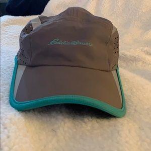 Eddie Bauer Gray/Green Hat Adjustable Back NWOT